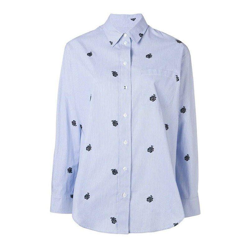 05530007 Home; /Kenzo Striped 'Roses' Shirt Sky Blue. 190520_______pd_sticker.  thumbnail; thumbnail; thumbnail; thumbnail ...