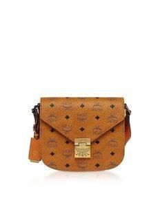 Small Cognac Visetos Patricia Shoulder Bag