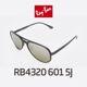 Ray Ban - RB4320 601 5J 58SIZE 편광렌즈 실버미러 CHROMANCE