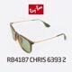 Ray Ban - RB4187 CHRIS 6393 2 54SIZE 호피 룩소티카정품 백화점