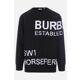 Burberry - 19FW 버버리 로고 블랙 울 남성 스웨터