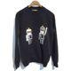 중고 Dolce&Gabbana - 돌체엔가바나 캐릭터패치 맨투맨 블랙-B00987