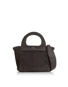 Dark Brown Reversible Nano Top Handle Bag