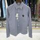 Comme des Garcons - 19FW 꼼데가르송 AZ B007 스트라이프 블랙 와펜 셔츠