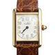중고 Cartier - 까르띠에 머스트탱크 금도금 로고판 와니스트랩 시계 22mm
