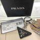 PRADA - 19SS 프라다 2PP080 삼각 로고 블랙 키링