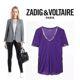 Zadig&Voltaire - 자딕앤볼테르 티노 포일 티셔츠/자딕앤볼테르 티노 포일 반팔/자긷앤볼테르