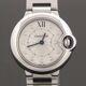 중고 Cartier - 뉴욕명품/ 28MM 발롱 블루 11P 다이아몬드 여성 스틸 시계
