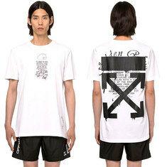 (배송)20SS 오프화이트 드리핑 애로우 반팔 티셔츠 화이트