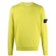 스톤아일랜드 와펜 코튼 니트 티셔츠 남성 스웨터 옐로우 21SS 7415504B2 V0031